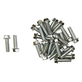 Bike It Carbon Steel Flange Head Bolts M6 x 20mm (25Pcs)