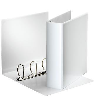 Esselte 49706 Essentials Presentation Binder 4 D Ring 60mm Capacity White