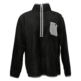 Cuddl Duds Women's Half-Zip Pullover Black A381810