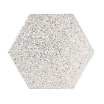 "16"" (406mm) Tabla de Pasteles Helecho de Plata Hexagonal - sencillo"