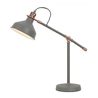 Lámpara De Mesa Regulable ácido 1 Bombilla Gris Arena 72 Cm