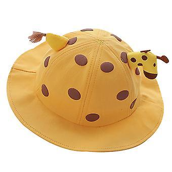 Breathable Fisherman Big Sunhat with Giraffe Designed