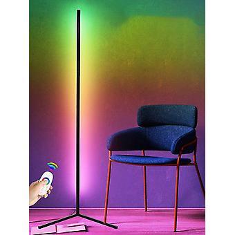 Lámpara de salón led nórdica lámpara de pie de luz multi tonos inteligente control remoto rgb lámpara de esquina adecuada para el dormitorio