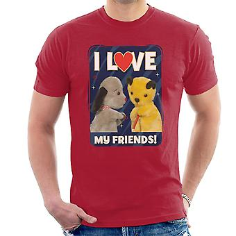 Sooty I Love My Friends Men's T-Shirt