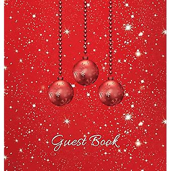 Christmas Party Guest Book (HARDCOVER) - Party Guest Book - Birthday