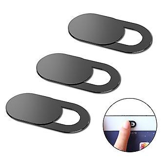 3 conjunto de piezas del deslizador de obturador de cámara web magnética para la privacidad
