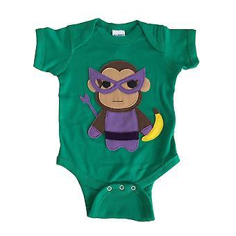 Super Hero Onesie -team Super Animals - Monkey