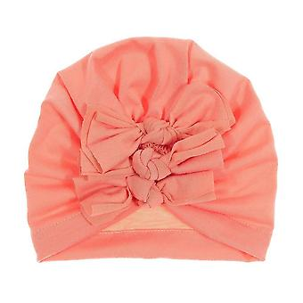 New Winter Baby Hat Bow Cotton Knitted Warm, Kids Bonnet Cap Beanie Headwear
