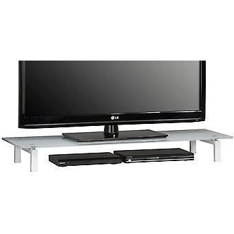 MAJA-Mbel 1605 9746 TV-Board, Metall wei - Weiglas, Abmessungen BxHxT: 110 x 12,5 x 35 cm