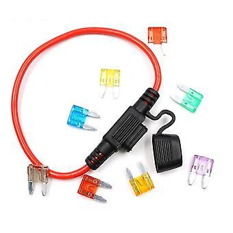 12v Car Waterproof Fuse Holder Socket Tap Adapter