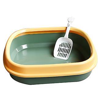 Katze Wurf Box halbgeschlossene Katze Toilette Wurf Box mit Katze Wurf Schaufel