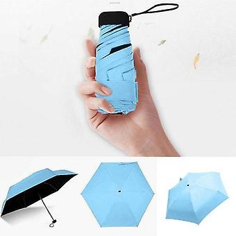 1 Mini Pocket Sun Rain Umbrella(Blue)