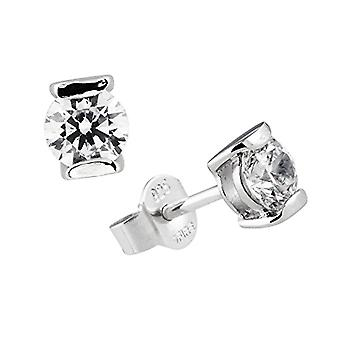 Diamonfire - Pendientes de mujer de plata 925, con circones, línea de quilates blancos 62/1258/1/082