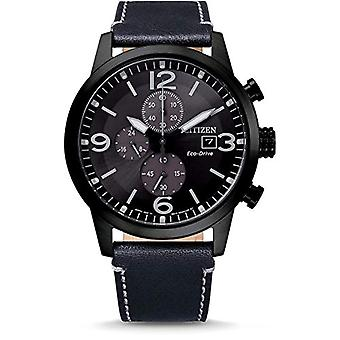 Citizen Analog Men's Eco-Drive Watch with Leather Strap CA0745-29E