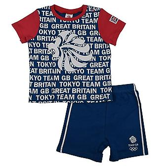 Team GB Baby T-Shirt and Shorts Set | Blue | 2021
