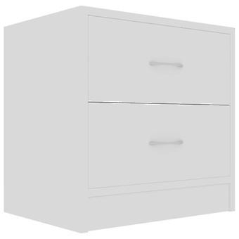 vidaXL Nachttisch Weiß 40×30×40 cm Spanplatte