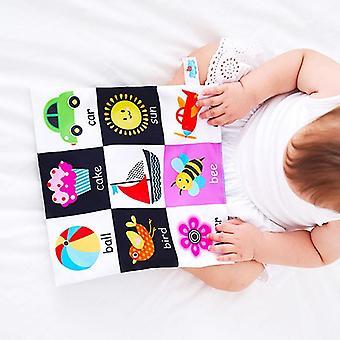 Infant Cloth Book Soft Toy Rattle Sound Nouveau-né Poussette Rattle Cloth