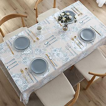 בד שולחן עמיד למים מלבני pvc חומר שולחן האוכל כרית