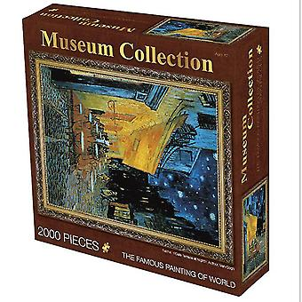 Coffee shop 2000 pieces of oil painting adult puzzle educational toys,creative decompression birthday gift az4035