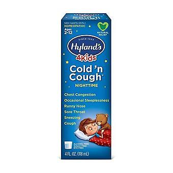 Hylands 4 Kids Night Cold & Cough, 4 Oz