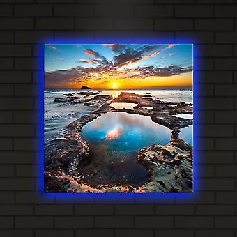 4040DACT-19 Pintura decorativa multicolor led iluminada