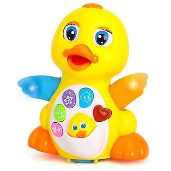 Musical Flatpping Yellow Duck Action Pädagogisches Lernen Tanzen Singen Spielzeug