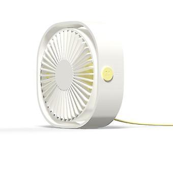 USB Desktop Mini Lüfter, 360 Rotation, tragbar (weiß)