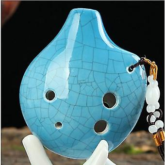 6 Hole Small Ocarina Alto C Tone Beginner Ocarina Tourist Souvenir Teaching Ocarina Ceramic Pendant