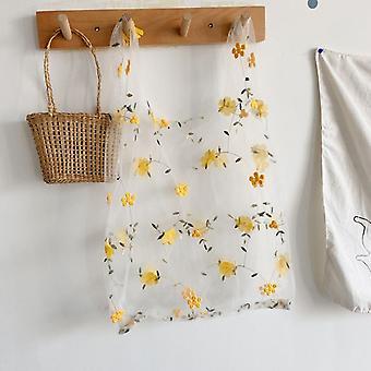 Nuevos bolsos de bordado linda bolsa de compras de malla
