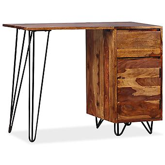 vidaXL desk with 1 drawer and 1 cabinet solid wood