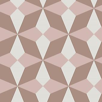 Fin dekor Nova geometrisk ros guld tapeter FD42547