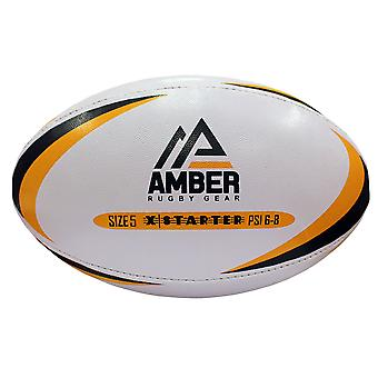Amber Sports League Training X- Starter Match Rugby Ball Taglia 3