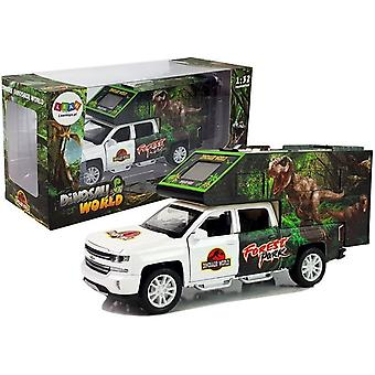 Dinosaurus speelgoedauto - 21 x 6 x 9 cm