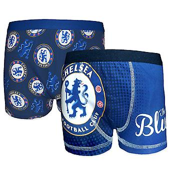 Chelsea FC Boys Boxer šortky 2 Pack OFICIÁLNY futbalový darček