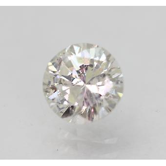 Certified 0.78 Carat G SI3 Round Brilliant Enhanced Natural Loose Diamond 5.65mm
