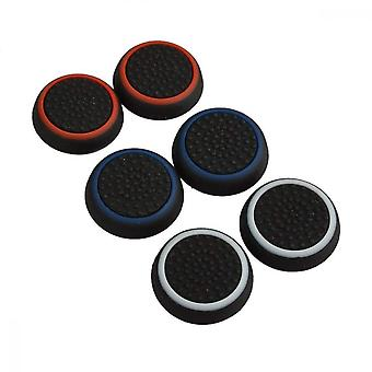 Thumb Grip Cover, 6 Pcs Ps3 Ps4 Xbox One Xbox 360 Controller Fingertip Handle Cover(3 Colors)