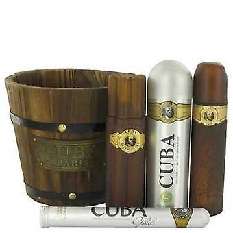 Cuba Gull Av Fragluxe Gavesett -- 3.4 Oz Eau De Toilette Spray + 1.17 Oz Eau De Toilette Spray + 6.