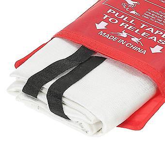 Fire Blanket Fiberglass Flame Retardant Emergency Survival Fire Shelter Safety