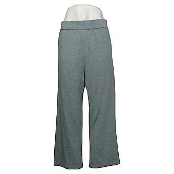 MarlaWynne Women's Pants Cropped Pull On Blue 655750