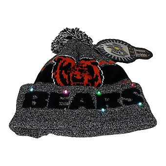 NFL Chicago Bears LED Lighted Stripe Beanie Gray Knit Chapeau d'hiver A371654