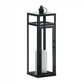 Gallery of Light Black Geometric Lantern - 17 inches, Pack of 1