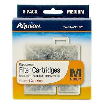 Aqueon QuietFlow Replacement Filter Cartridge - Medium (6 Pack)
