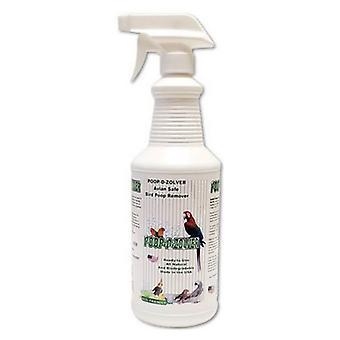 AE Cage Company Poop D Zolver Bird Poop Remover Lime Coconut Scent - Pulvérisateur 32 oz