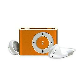 Mini Clip Usb Music Mp3 Player Support 1-8gb, Sd, Tf(Yellow)