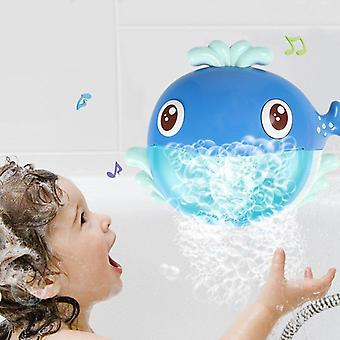 Bubble Machine Crabs Frog Music Kids Bath Toy Bathtub Soap Automatic Bubble Maker Baby