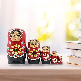 Pack of 5 hand painted russian nesting dolls matryoshka nested toy gift christmas mother's day home decor halloween