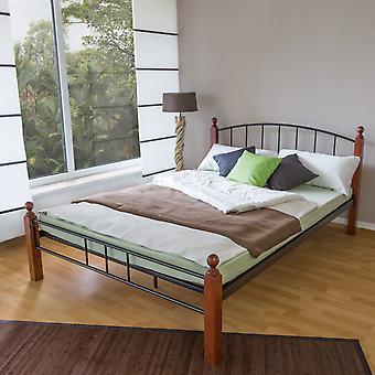Bettgestell - Plattform - Betten - Modernes Braunholz 215 cm x 165 cm x 36 cm