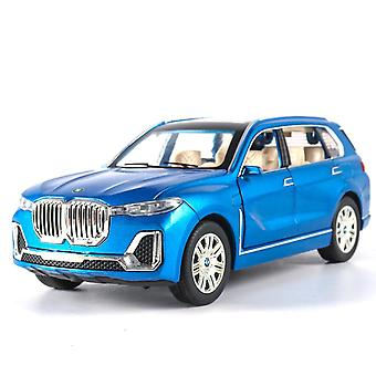 Toy cars 1:24 bwm x7 alloy car model diecasts toy blue
