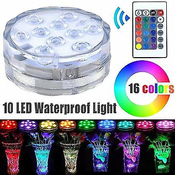 Emergency lighting led rgb waterproof submersible lights with remote control underwater swimming pool light