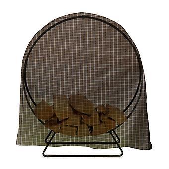 Mimigo Firewood Log Rack Cover, Extérieur imperméable à l'eau Panneau de cerceau, Coupe-vent en bois sec Support de bâche de rangement Couvercle de bâche résistant aux UV Résistant à la neige du soleil
